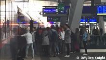 Flüchtlinge steigen aus in Wien