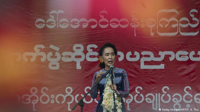 Myanmar Wahlkampf Aung San Suu Kyi (Getty Images/AFP/Y. A. Thu)