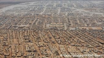 The Zaatari refugee camp in Jordan in 2013