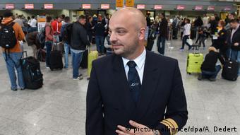 Markus Wahl, porta-voz do sindicato alemão de pilotos aeronáuticos Cockpit