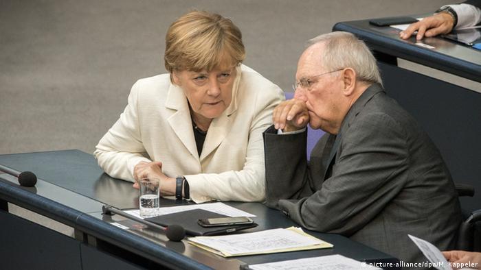 Анґела Меркель та Вольфґанґ Шойбле