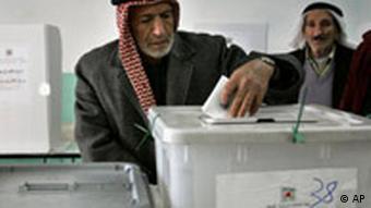 Palästinenser an der Wahlurne Wahlen