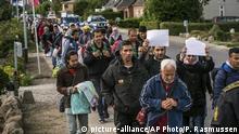 Dänemark Flüchtlinge Flüchtlingstrek Richtung Schweden