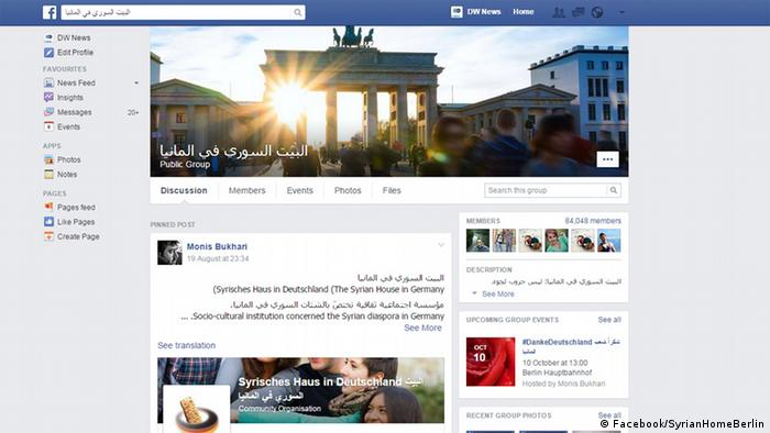 224df8f6b The Facebook page ″Syrian home in Germany″ is made by Syrians - for ...