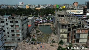 The Rana Plaza disaster site