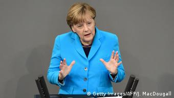 Ангела Меркель в бундестаге 9 сентября