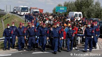 Wakimbizi waliowasili nchini Hungary