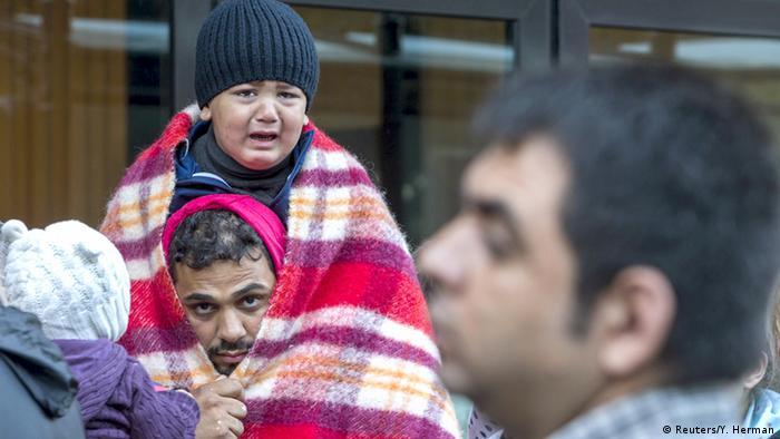 Belgien Flüchtlinge in Brüssel
