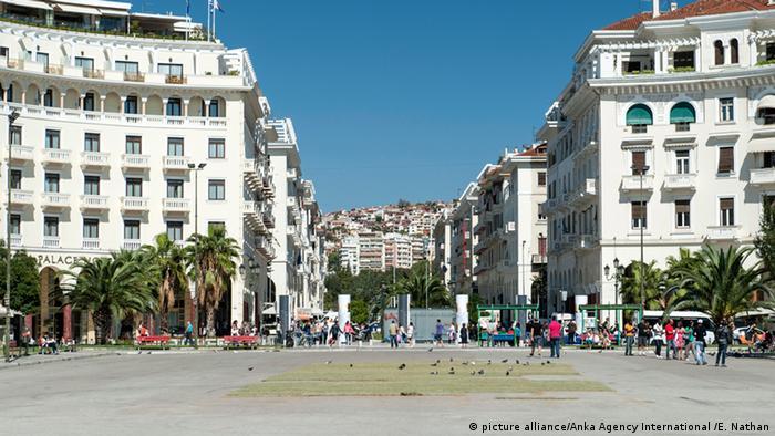 Der Aristoteles-Platz in Thessaloniki