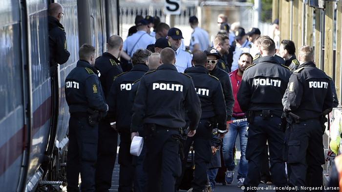 Dänemark - Zug mit Flüchtlingen gestoppt