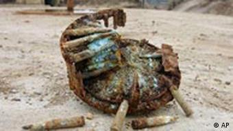 Verrostete Munition Deutscher Bunker in Grandcamp-Maisy