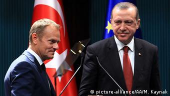 Türkei Ankara Treffen Tusk Erdogan
