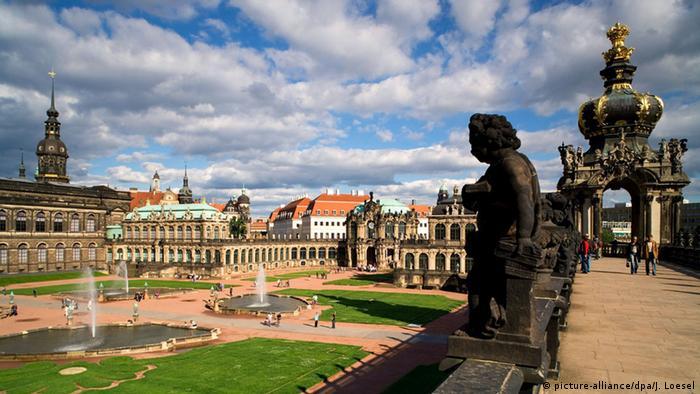 The baroque city of Dresden in 360°