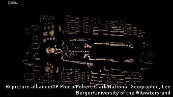 Bones of the Homo naledi. (Photo: Robert Clark/National Geographic, Lee Berger/University of the Witwatersrand via AP)