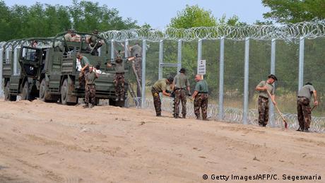 Ungarn Armee Grenze Zaun