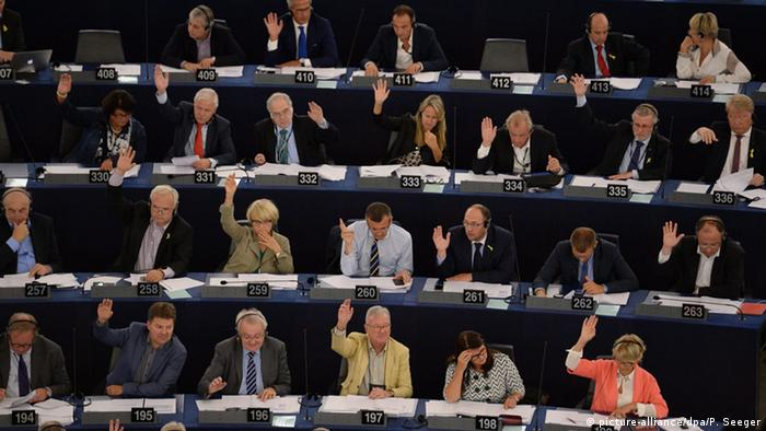 Frankreich Europaparlament Voting