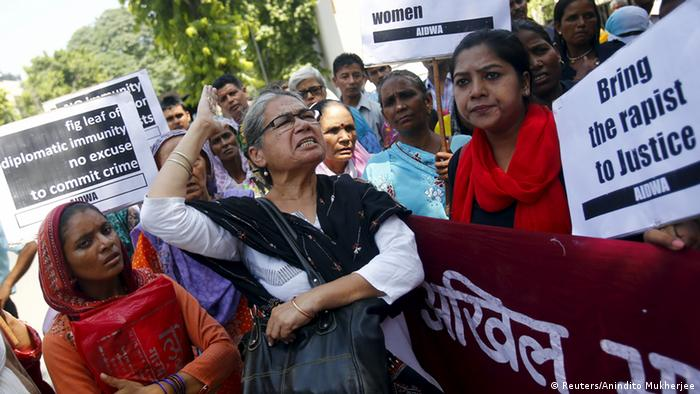Protesters called for justice in front of the Saudi embassy in New Delhi in September.