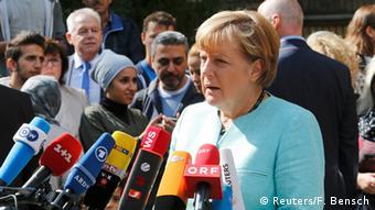 Kansela Angela Merkel akizungumza na waandishi wa habari Berlin (10.09.2015)
