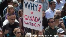 Kanada Demonstration Aufnahme Flüchtlinge