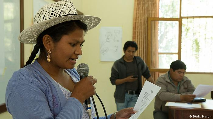 DW Akademie trained local staff from various community stations in Bolivia, photo: Nicolas Martin
