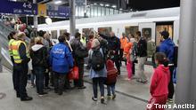 Deutschland Ankunft von Flüchtlingen aus Ungarn in Düsseldorf