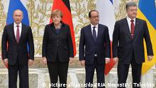 Minsk Friedensgespräche Ukraine Putin Merkel Hollande Poroschenko