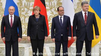 Peace talks on Ukraine held by the Russian, German, French and Ukrainian leaders