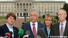 Peter Robinson DUP Belfast Nordirland Irland Politik Regierung Democratic Unionist Party
