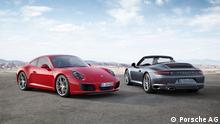 Beschreibung: 911 Carrera S / 911 Carrera Cabriolet Quelle: Porsche AG Frei zur Verwendung fürPressezwecke Schlagwort IAA 2015