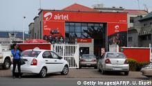 Indiens Einsatz in Afrika Airtel Logo in Abuja Nigeria