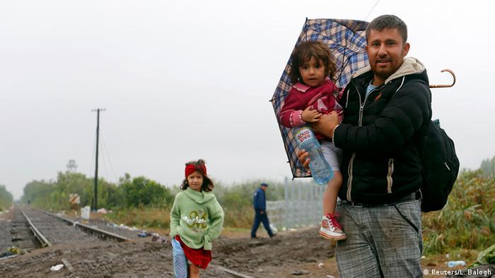 Ungarn Serbien Flüchtlinge bei Roszke