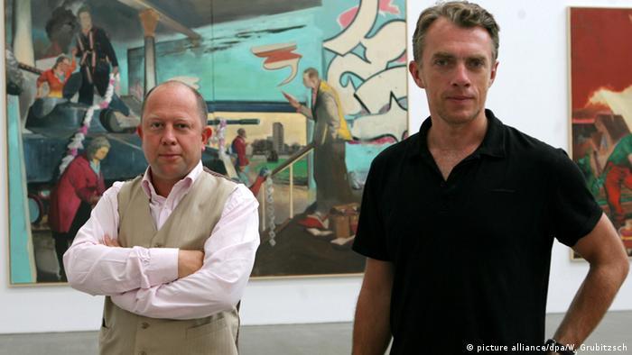 Bildergalerie Leipziger Schule Galerist Gerd Harry Lybke und Neo Rauch