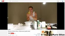 Screenshot YouTube Video Mario Götze backt Kuchen