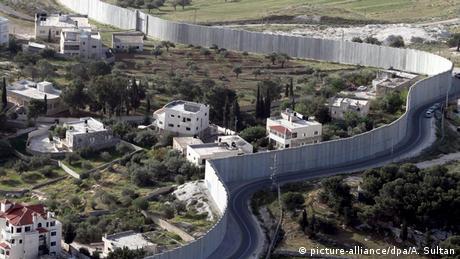 Sperranlage zwischen Israel und den Palästinensergebiet