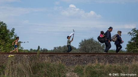 Nur für Life Links - Grenze Serbien Ungarn