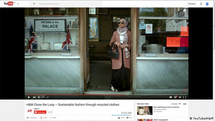 Screenshot Youtube H&M Werbung Muslima Kopftuch (Foto: YouTube/H&M)