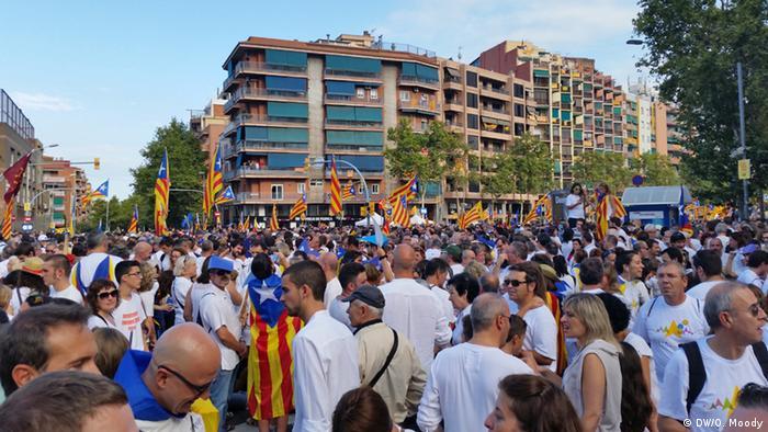 Barcelona Katalunien Unabhängigkeit Demo