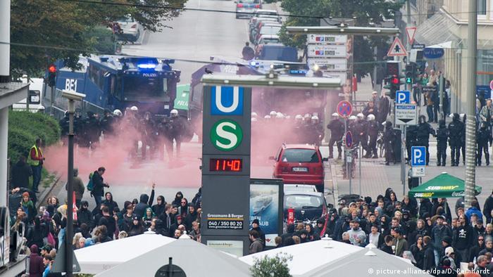 Ausschreitungen am Hamburger Hauptbahnhof