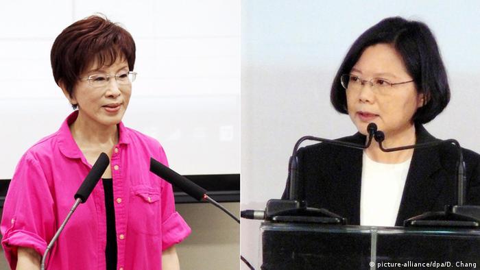 Taiwan Präsidentschaftskandidatinnen Hung Hsiu-Chu und Tsai Ing-Wen