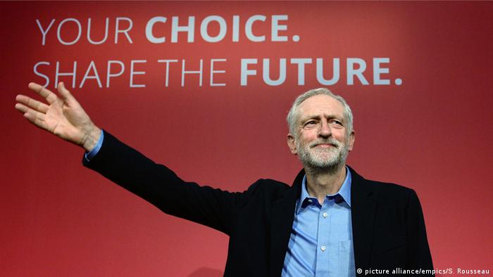 Labour leader Jeremy Corbyn at a party conference