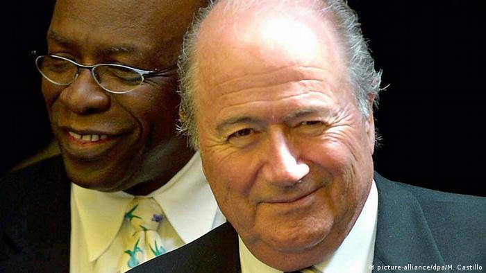 Fußball FIFA Joseph Blatter und Jack Warner