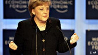 Angela Merkel in Davos Schweiz World Economic Forum