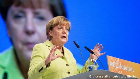 Bundeskanzlerin Angela Merkel beim Mitgliederkongress #CDUdigital zur Digitalisierung