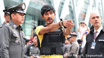 Thailand Bangkok Bombenanschlag Einkaufszentrum öffentliche Tatortbegehung