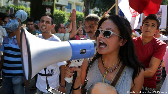 Tunesien Tunis Proteste gegen Straferlass Korruption (picture-alliance/dpa/M. Messara)