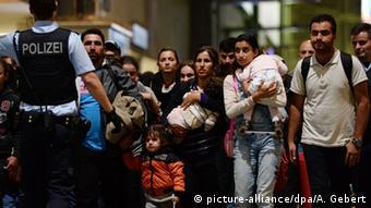 Deutschland München Bahnhof Migration Flüchtlinge