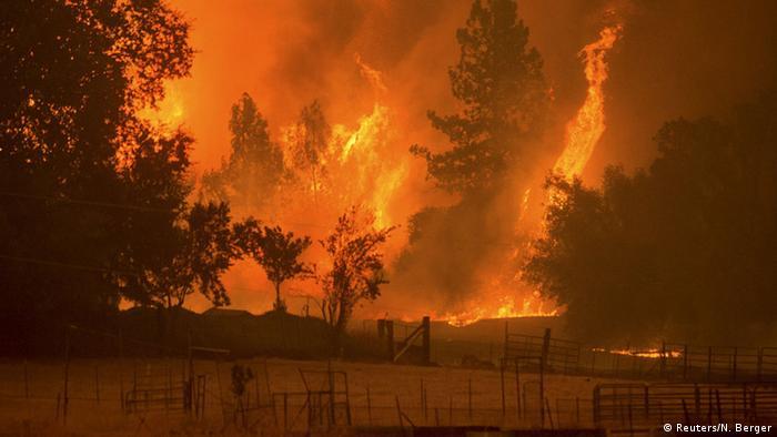 Kalifornien Buschfeuer