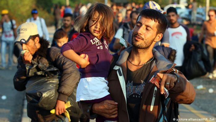 Беженцы на сербско-венгерской границе