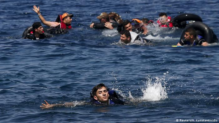 Symbolbild Flüchtlinge vor Griechenland ertrunken