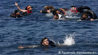 Refugees in the sea